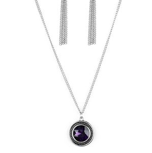 Paparazzi Mega Money Purple Necklace Set